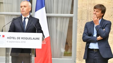 La passation entre Nicolas Hulot et François de Rugy