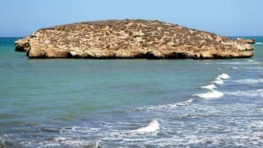 La Isla de Tierra, au large d'Al Hoceïma au nord du Maroc.