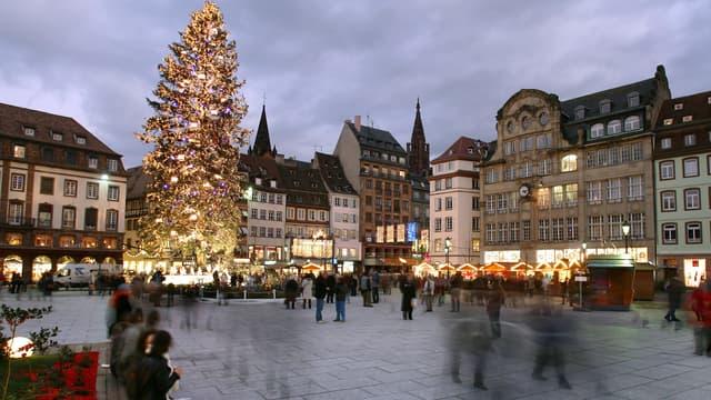 La place Kléber à Strasbourg, le 13 décembre 2007.