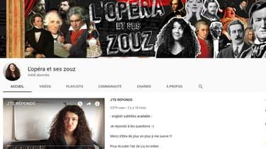 Mia Mandineau et sa chaîne L'opéra et ses zouz.