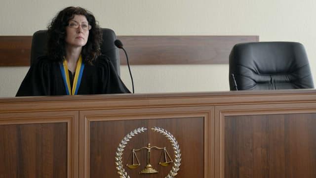 Une juge d'un tribunal de Kiev en plein interrogatoire, le 22 mai 2015. (Photo d'illustration)
