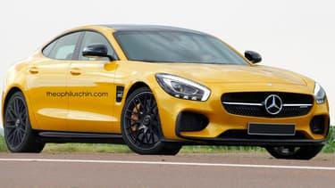 Une vue d'artiste d'une future Mercedes-AMG GT 4