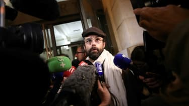 Le militant Cédric Herrou à Nice, dans le sud-est de la France, le 4 janvier 2017