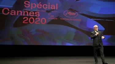 Thierry Frémaux lors de l'édition symbolique du Festival de Cannes le 27 octobre 2020