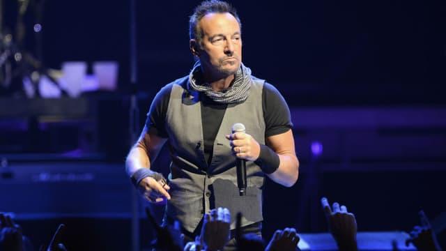 Bruce Springsteen en concert à l'AccorHôtels Arena à Paris en 2016