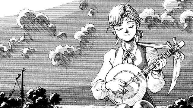 "Une page du manga ""Escale à Yokohama"""