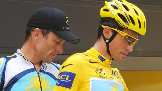 Armstrong et Contador