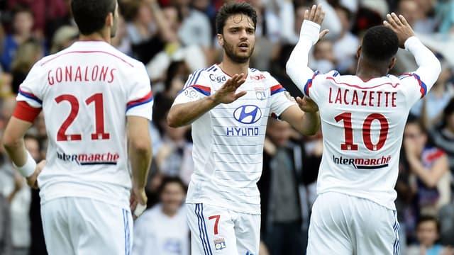 Les joueurs de l'Olympique Lyonnais