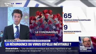 """Coronavirus: Nicolas Péju, directeur-adjoint de l'ARS Ile-de-France, précise que """"l'inversion de tendance se confirme"""""""