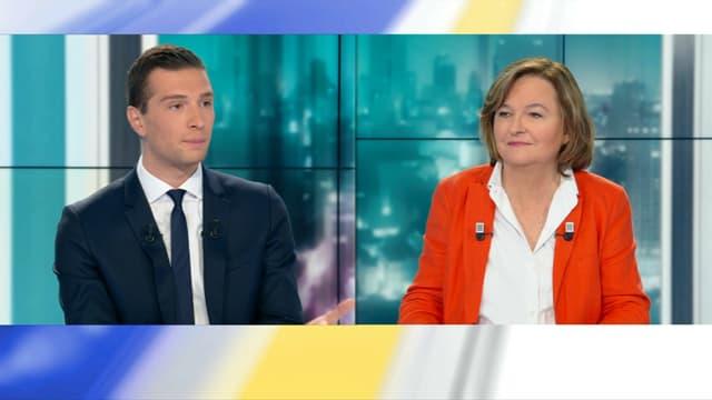 Jordan Bardella et Nathalie Loiseau, le 15 mai 2019