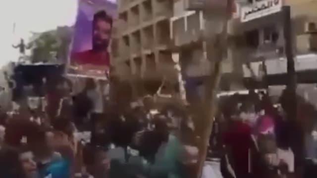 Les manifestants en colère après la blessure de Mohamed Salah