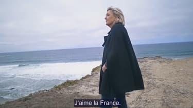 Capture d'écran du clip de campagne de Marine Le Pen.