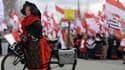 Manifestation contre la réforme des régions le 13 décembre 2014 à Strasbourg.