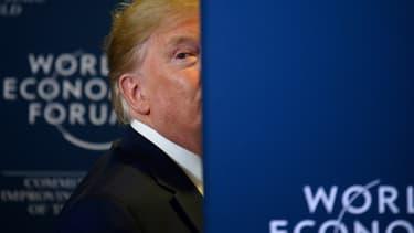 Donald Trump lors d'une conférence de presse au Forum économique mondial à Davos, en Suisse, le 22 janvier 2020