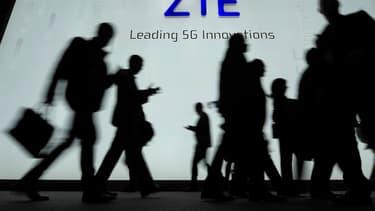 Le logo de la marque ZTE.