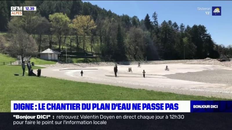 Digne-les-Bains: le chantier du plan d'eau ne passe pas