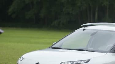 Ce C4 Cactus a servi de démonstrateur pour les nouveaux amortisseurs à butée hydrauliques qui incarnent le nouveau confort mythique de Citroën.