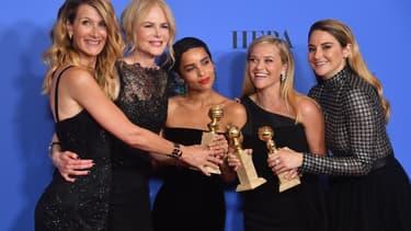 Les actrices de la série Big Little Lies lors de la 75e cérémonie des Golden Globes