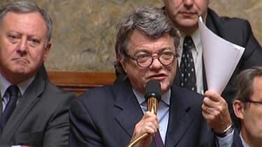 Le président du groupe UDI à l'Assemblée nationale, Jean-Louis Borloo, ce mardi dans l'hémicycle.