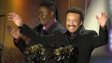 Maurice White lors de l'entrée du groupe Earth, Wind & Fire au Rock and Roll Hall of Fame à New York en 2000.