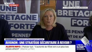 """Marine Le Pen : """"Je serais la présidente qui incarne le retour et la restauration de l'autorité de l'État"""""""