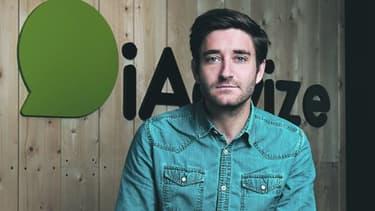 Julien Hervouet, cofondateur et CEO d'iAdvize, une start-up nantaise qui aide les clients à mieux acheter sur Internet.