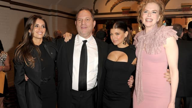 Harvey Weinstein entouré de Penelope Cruz, Fergie et Nicole Kidman, en 2012 à Los Angeles