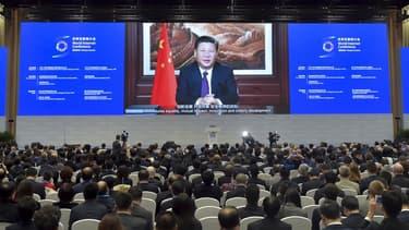 Le président chinois Xi Jiping lors de la Third World Internet Conference, à Wuhzen