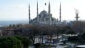 La Mosquée bleue après la violente explosion dans le quartier touristique de Sultanahmet, mardi à Istanbul.