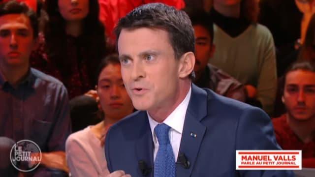 Manuel Valls sur le plateau du Petit Journal.