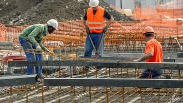 C'est dans le secteur de la construction que l'emploi en intérim a le plus baissé en octobre.