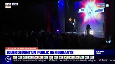 Ile-de-France: jouer devant un public de figurants