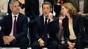Laurent Wauquiez, Nicolas Sarkozy et Nathalie Kosciusko-Morizet, au congrès fondateur des Républicains, samedi.