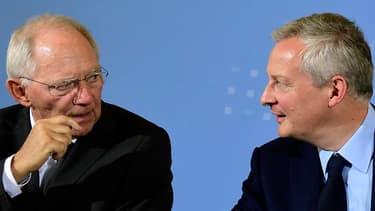 Wolfgang Schaüble et Bruno Le Maire ont affiché leurs convergences ce lundi à Berlin.