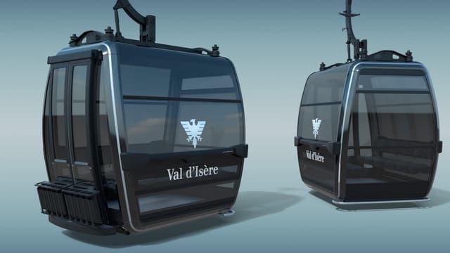 Val d'Isère sera équipée de 50 cabines Premium Symphony 10 places et d'une cabine VIP. Elles ont été dessinées par le designer Italien Pininfarina.