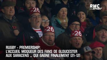 Premiership : L'accueil moqueur des supporters de Gloucester aux Saracens ... qui ont gagné 21-12