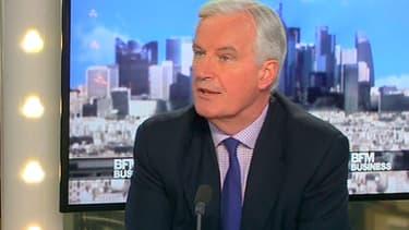 Le commissaire européen Michel Barnier était l'invité de BFM Business, mardi 22 avril.