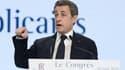 Nicolas Sarkozy lors de son discours de clôture du congrès des Républicains.