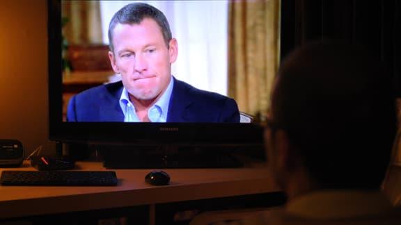 Lance Armstrong, lors de ses aveux à la télévision