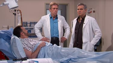 Hugh Laurie et George Clooney chez Jimmy Kimmel