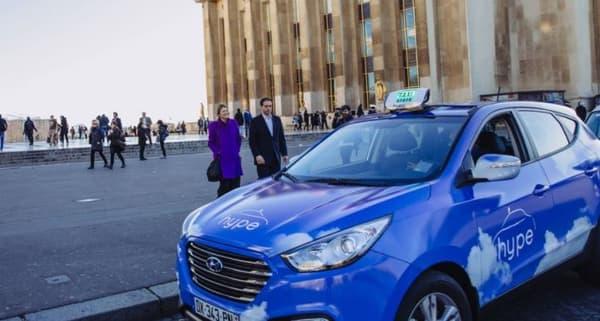 La flotte de taxis hydrogène parisiens Hype a été lancée par la start-up STEP fin 2015, en partenariat avec Air Liquide.