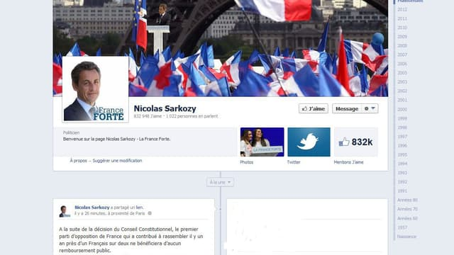 Nicolas Sarkozy a réagi sur son compte Facebook.