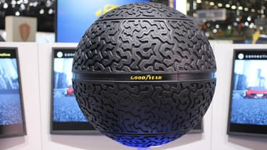 Le concept Eagle-360 de la marque américaine serait le pneu idéal des futures voitures autonomes.