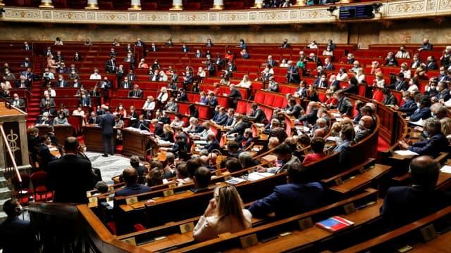 L'hémicycle de l'Assemblée nationale (illustration)