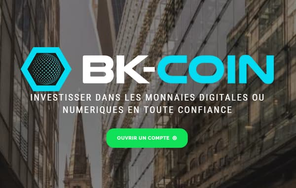 Le site BK-Coin inspire peu de confiance au premier abord.