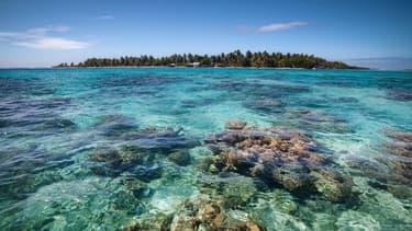 Taou, un atoll dans l'archipel de Tuamotu en Polynésie française.