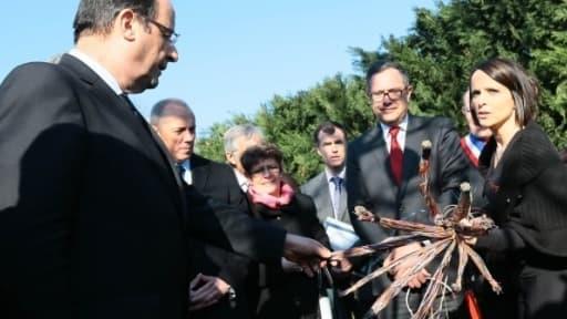 François Hollande et le PDG de France Télécom Stéphane Richard mercredi 20 février à Clermont Ferrand