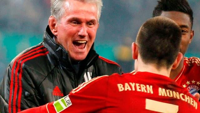 Jupp Heynckes avec Franck Ribéry