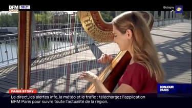 Paris Story: la harpiste Maia Darmé joue en plein Paris