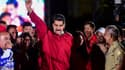 Nicolas Maduro célèbre les résultats du scrutin.